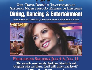 THE ROYAL ROOM presents DEB SILVER at THE COLONY HOTEL, PALM BEACH July 4th & 11th
